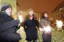 Silvestr na Horním náměstí v Olomouci