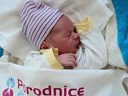Jeroným Líňa, Velká Bystřice narozen 5. března míra 51 cm, váha 3830 g