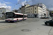 Železniční přejezd v Litovelské ulici v Olomouc, březen 2021