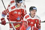 Utkání 44. kola hokejové extraligy: HC Vítkovice Ridera - HC Olomouc, 23. ledna 2019 v Ostravě. Na snímku (zleva) Ondrušek Jiří a Jergl Aleš.