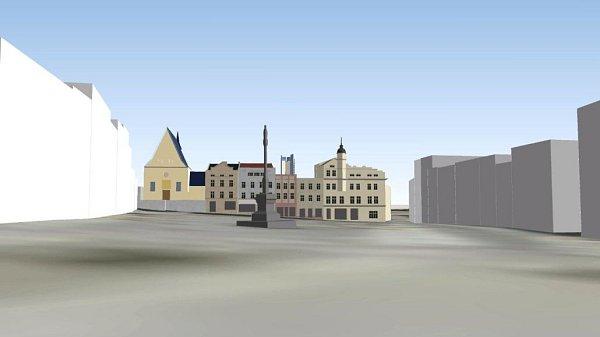 Jak bude vidět Šantovka Tower? Vizualizace pohledu zDolního náměstí