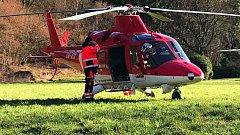 Vrtulník letecké záchranky Olomouckého kraje. Ilustrační foto