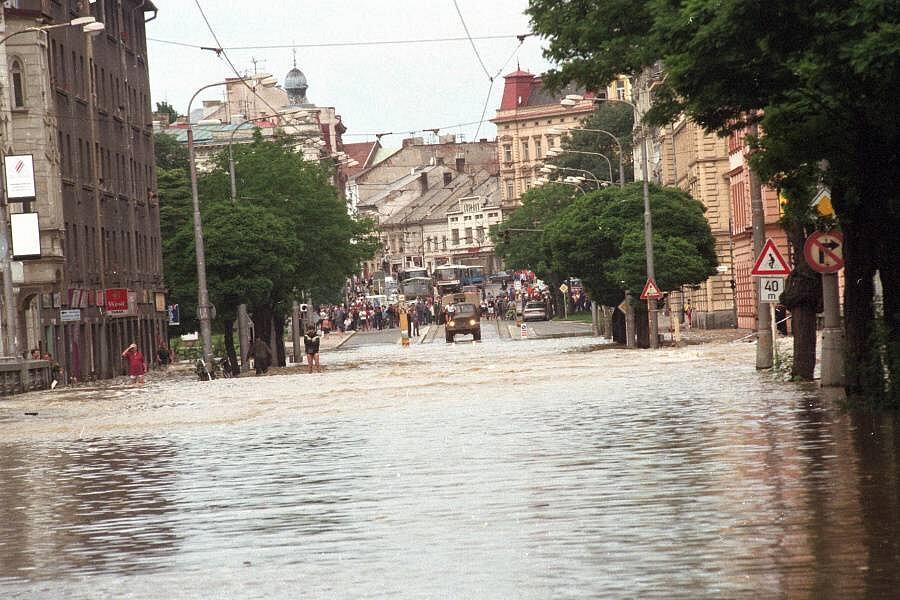 Olomouc, Masarykova třída, 9. července 1997