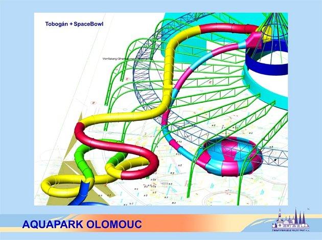 Vizualizace olomouckého aquaparku.