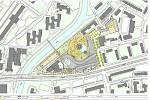 Vizualizace nového komplexu BEA centra u třídy Kosmonautů v Olomouci