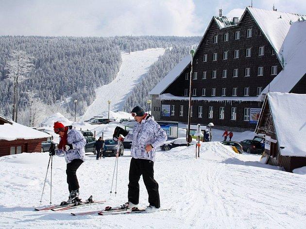Skiareál na Červenohorském sedle vJeseníkách