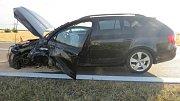 Následky tragické nehody u Dubu nad Moravou, 11. 7. 2019