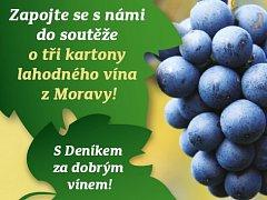 Soutěžte o tři kartony vína