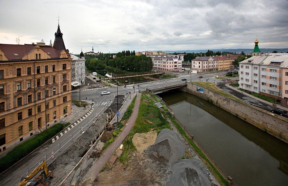 Starý most v Komenského ulici před začátkem bourání v květnu 2018
