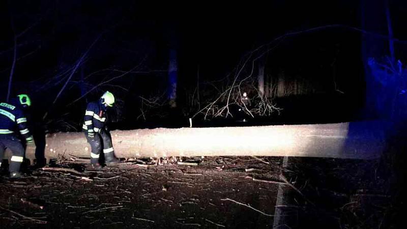 Profesionální i dobrovolní hasiči v Olomouckém kraji zasahovali v sobotu a v neděli u desítek případů, kdy silný vítr shazoval stromy na silnice, železnice, chodníky a další veřejná prostranství.
