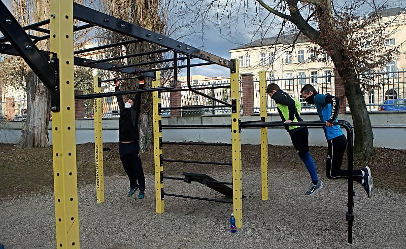 Workoutové hřiště u třídy 17. listopadu v Olomouci