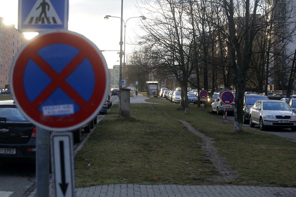 Zikova ulice - tudy povede tramvaj - zákaz parkování kvůli stavbě