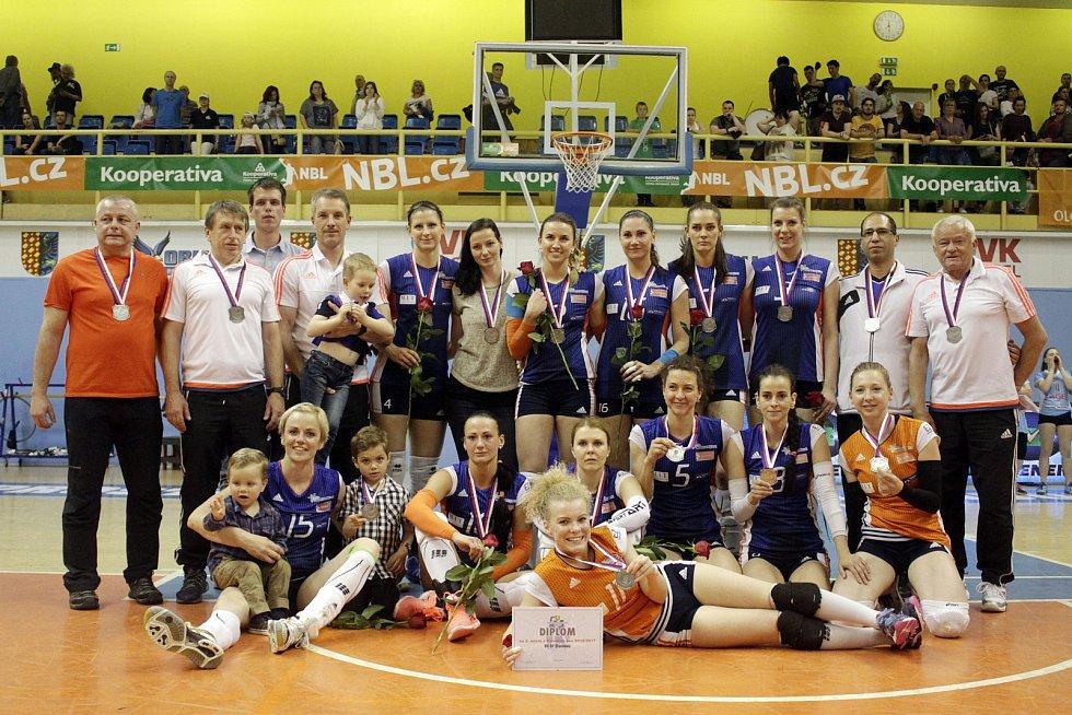 Olomoucké volejbalistky vybojovaly extraligové stříbro
