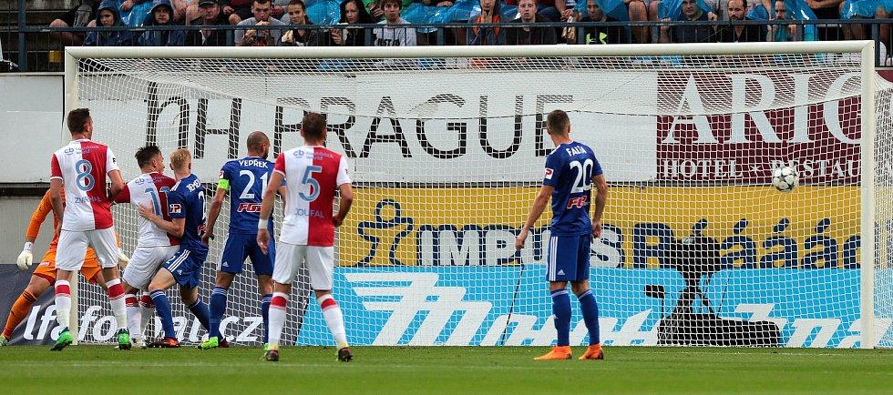 SK Sigma - Slavia Praha. první gól Slavie
