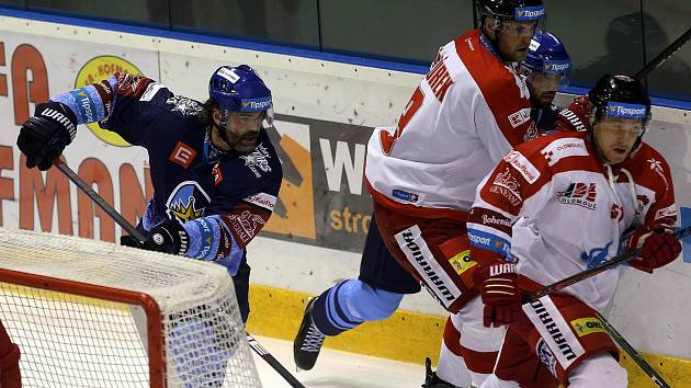 HC Olomouc proti Kladnu. Jaromír Jágr