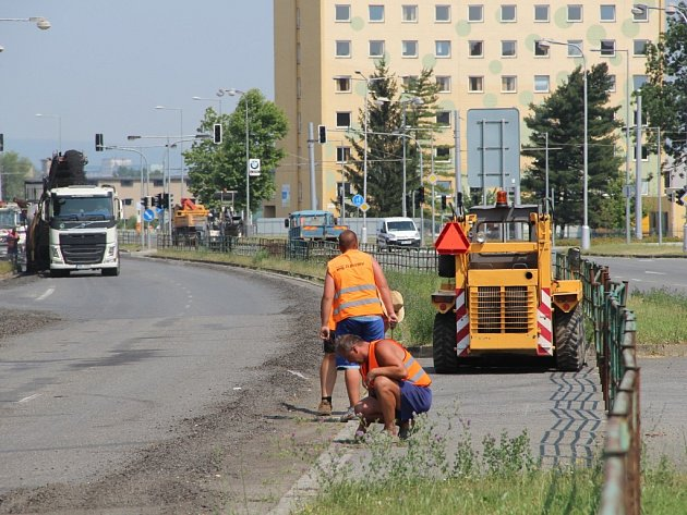 Uzavírka Velkomoravské ulice v Olomouci - 6. července 2015