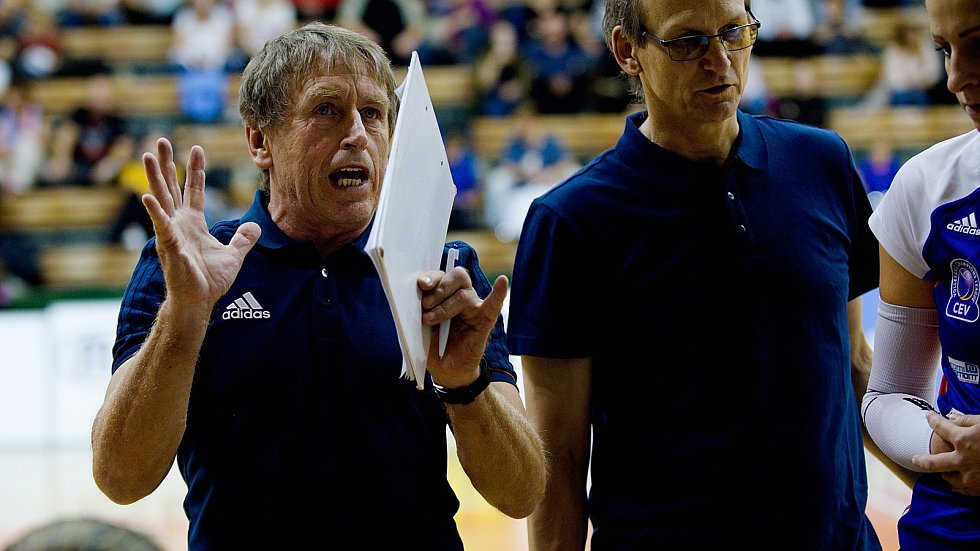 Trenér Jiří Teplý (vlevo)