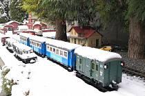 Zahradní železnice Karla Váni ze Střížova v zimě