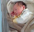 Jakub Tomšů, Újezd, narozen 16. března ve Šternberku, míra 50 cm, váha 3330 g