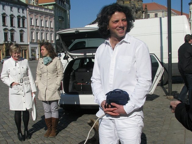 Italský cestovatel Gianluca Ratta v Olomouci