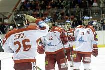 Olomoucká oslava gólu. HC Olomouc vs. Piráti Chomutov