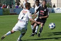 HFK Olomouc (v tmavém) proti Slovácku B