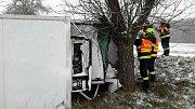 Nehody na zasněžených cestách v Olomouckém kraji, 8. ledna 2019