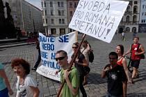 Protestní průvod proti věznění Romana Smetny v Olomouci