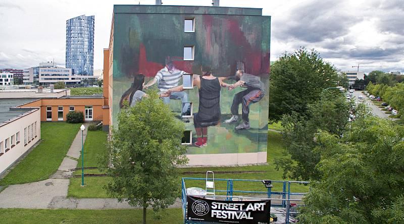 Autor Wasp Elder, VŠ koleje, Street art v Olomouci