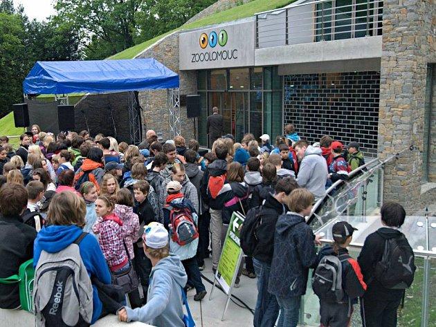 Nový vstup do olomoucké zoo - slavnostní otevření