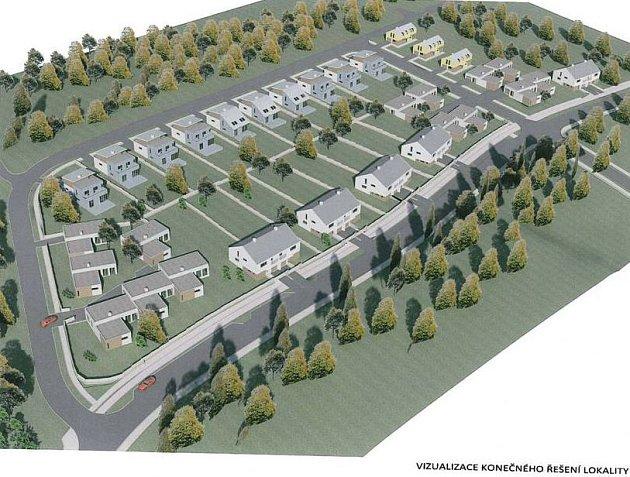 Vizualizace nové výstavby Nad nemocnicí ve Šternberku