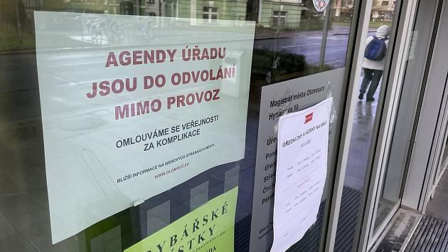 Olomoucký magistrát ochromil útok hackerů. 8. dubna 2021