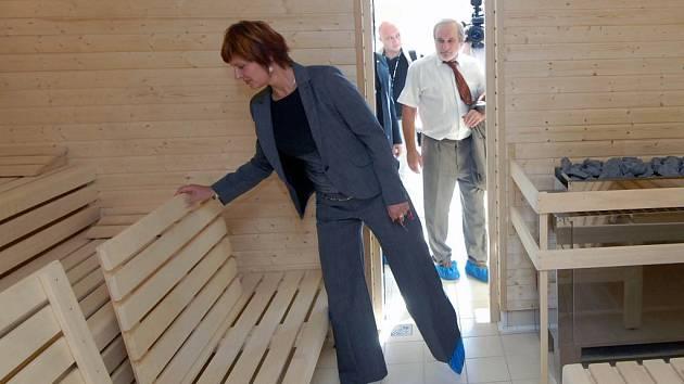 Zrekonstruovaná sauna na olomouckém bazénu byla otevřena v září 2007
