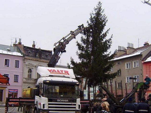 Vánoční strom ve Šternberku