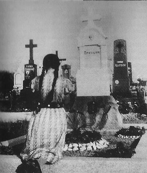 Momentka ze hřbitova vKozlově (Koslau)