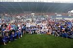 Sigma proti Viktorce a následné oslavy prevzetí poháru FNL