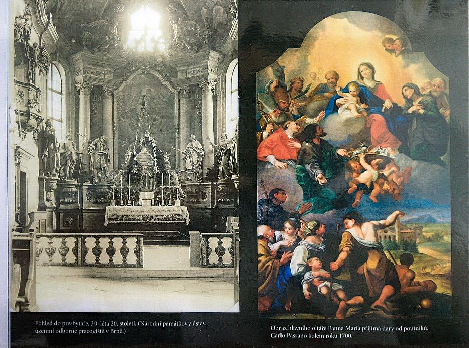Oltářní obraz kostela ve Staré Vodě u Libavé
