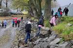 Výlov rybníka Hrubý nedaleko Šumvaldu