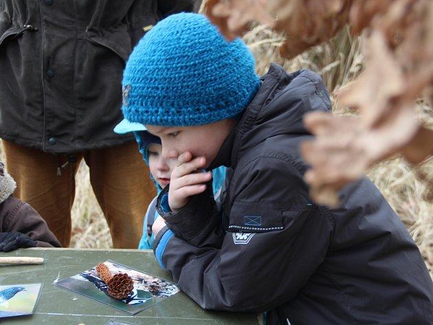 Děti během Dne zimního spánku v Horce nad Moravou.