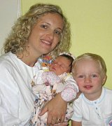 Barunka Absolonová, Olomouc, narozena 3. října v Olomouci, míra 49 cm, váha 3280 g.