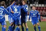 Hráči Sigmy se radují z úvodního gólu.