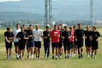 Fotbalisté 1. HFK Olomouc v pondělí zahájili přípravu na druholigovou sezonu. Do přírapvy se zapojil i David Kobylík.