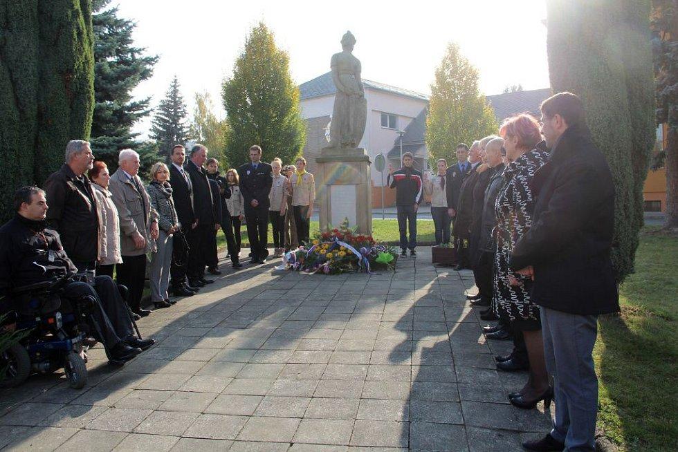 Vzpomínková akce k 97. výročí vzniku Československa ve Šternberku