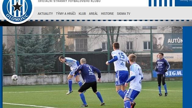 Nový web fotbalové Sigmy