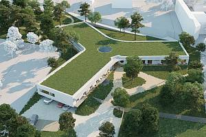 Vizualizace domova pro seniory ve Šternberku. Autor: architektonické studio masparti