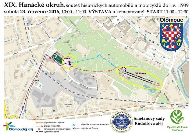 Středomoravský Klub Automobilistů a Motocyklistů (SKAM Olomouc) pořádá už XIX. ročník Hanáckého okruhu, soutěže historických automobilů a motocyklů vyrobených do roku 1939.