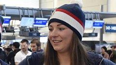 Vendula Hopjáková před odletem na zimní olympiádu v Pchjongčchangu