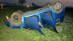 Nehoda Škody Roomster na silnice I/46 u Bělkovic