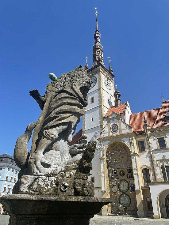 Vedro v centru Olomouce, 18. června 2021