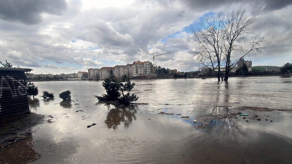 31. března 2006. Řeka Morava u Černovíra